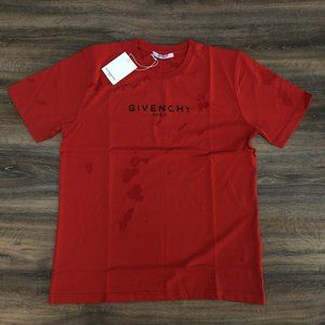 """Givenchy Men Destroyed Red T-Shirt """"XL"""""""